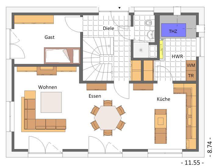 1000 bilder zu hausbeispiele von cal classic haus auf pinterest. Black Bedroom Furniture Sets. Home Design Ideas