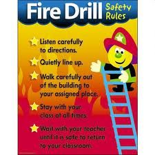 Every school should have regular fire drill. In my setting we do once a term at different times of the day. We need to follow same procedure of fire.  All classes must exit to the assembly point at the far end of the playground. At the assembley point, teachers must check the register and account for every child and adult in their class.  When satisfied, they should inform the Head/Deputy/person in charge, by raising their hand. Organising fire drills is the responsibility of  Erica Quirk