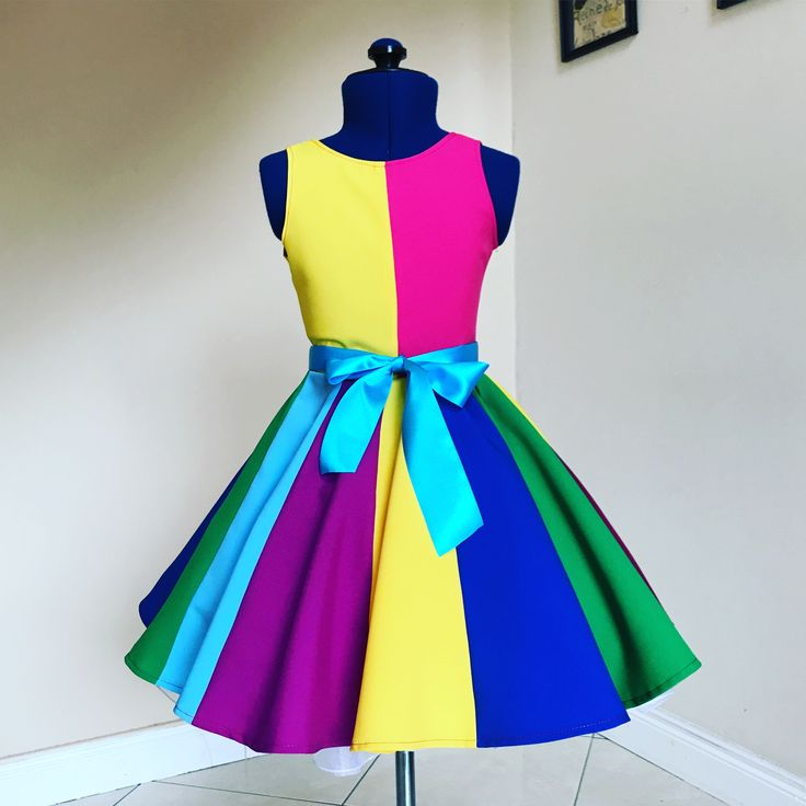 Rainbow dress , kids fashion , fashion , moda , lajupemix ,children's dresses