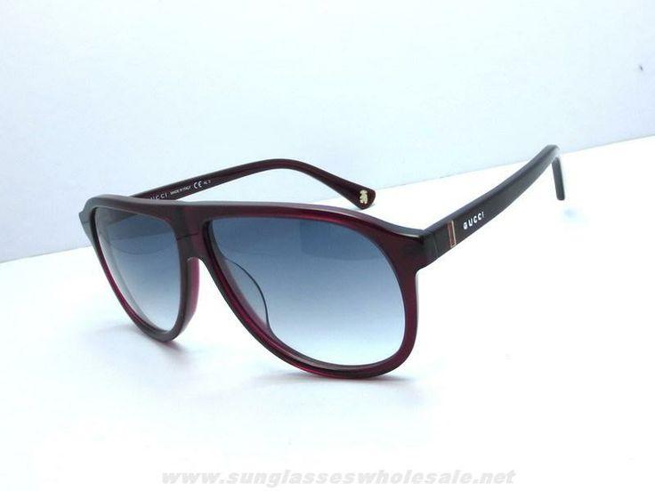cyber monday oakley sunglasses jn9s  Authentic Gucci GG 5000 C S Pilot Plastic Frame Sunglasses Red Grey On Cyber  Monday