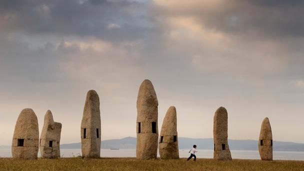 In the northern port city of A Coruña, a series of 7 stone totems called the Family of Menhirs stand along the shore. (Jim Richardson/National Geographic Creative)