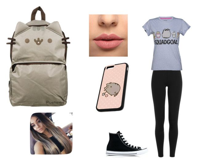 Pusheen by jill-nicole-1 on Polyvore featuring Pusheen, Polo Ralph Lauren, Converse and LASplash