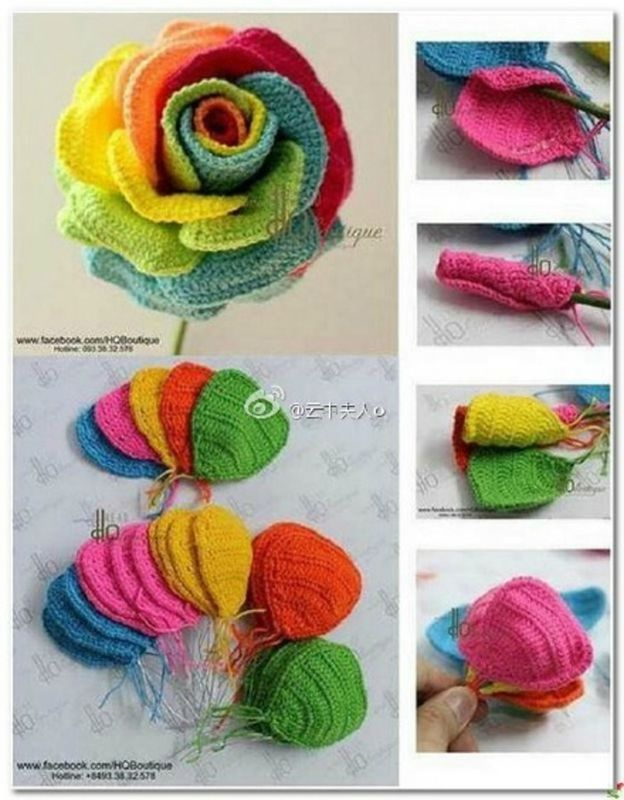Tutorial Rose Amigurumi : 1000 idees sur le theme Tutoriel Fleur Au Crochet sur ...