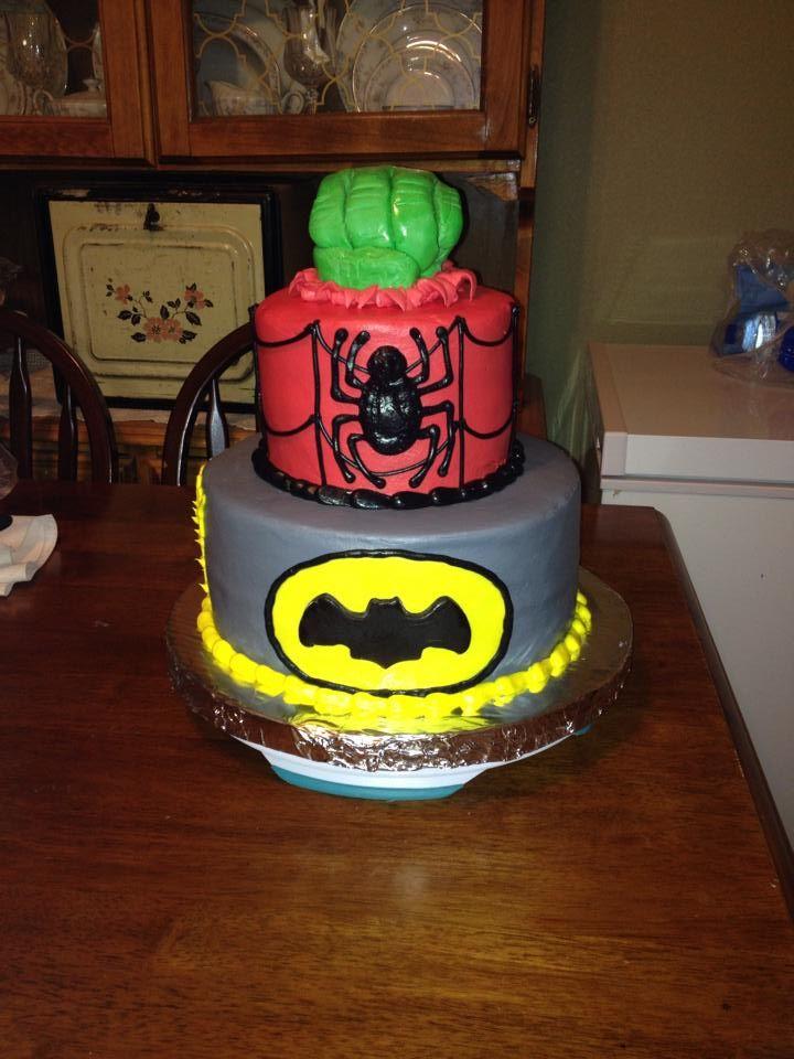 Batman Spiderman Hulk Cake Nikki S Goodies Pinterest