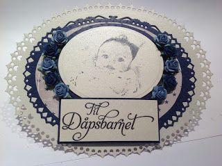 Kristinas kortblogg: Ovalt babykort / oval baby card