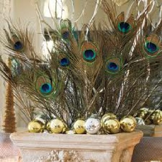 Peacock decoration