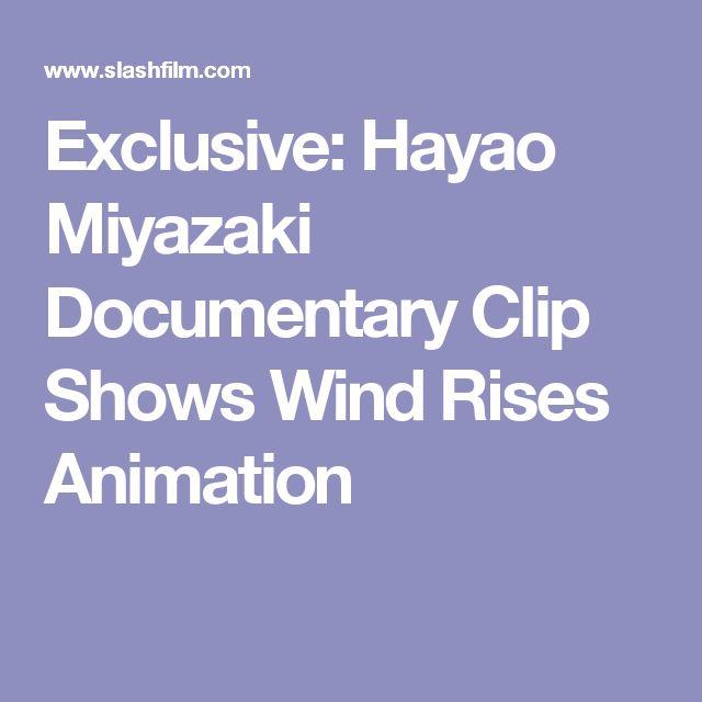 Exclusive: Hayao Miyazaki Documentary Clip Shows Wind Rises Animation