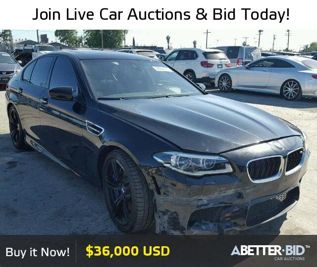 Salvage  2016 BMW M5 for Sale - WBSFV9C53GD595686 - https://abetter.bid/en/28654177-2016-bmw-m5