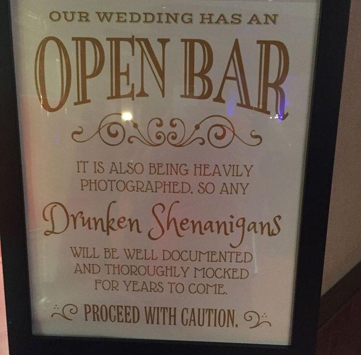 Best 25+ Open bar wedding ideas on Pinterest Wedding alcohol - most wanted sign template