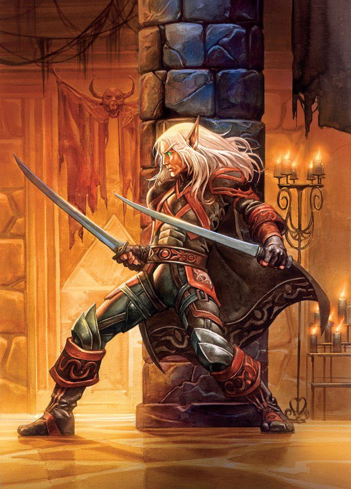 Elf warrior, twin swords, who could it be?