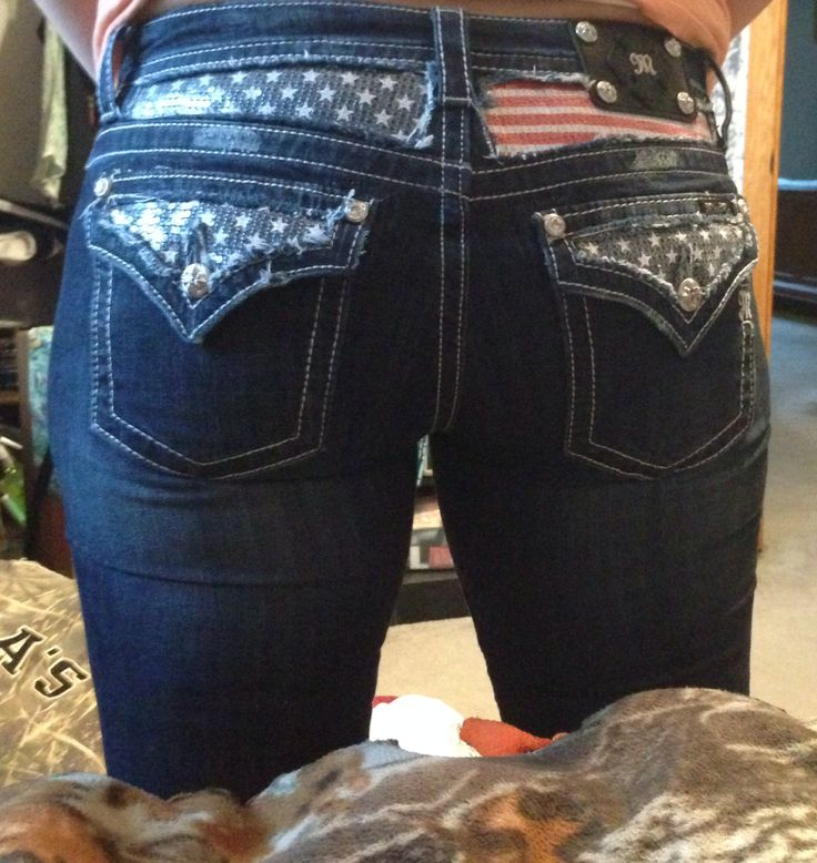 My new American flag Miss Me jeans!  I am in love with then!