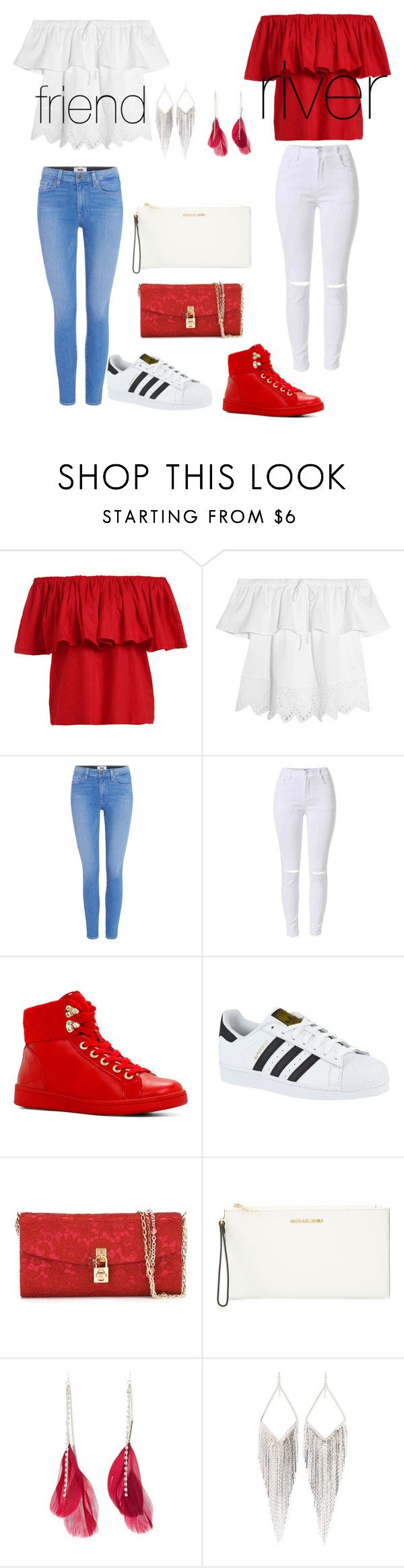 """""""Untitled #45"""" by ashantismith510 ❤ liked on Polyvore featuring Madewell, Paige Denim, ALDO, adidas, Dolce&Gabbana, MICHAEL Michael Kors, Charlotte Russe and Jules Smith"""