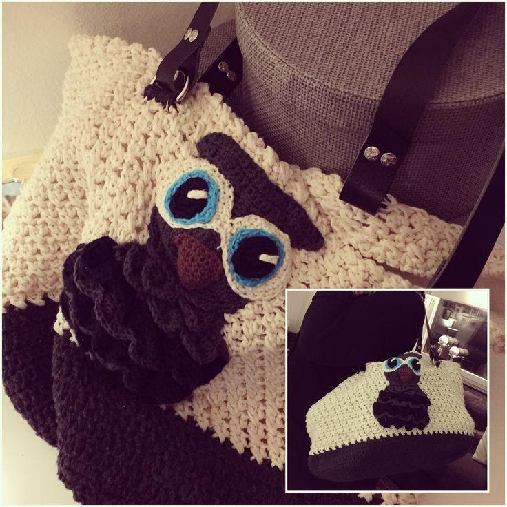 Owly bag, crochet, handmade, owls handbag