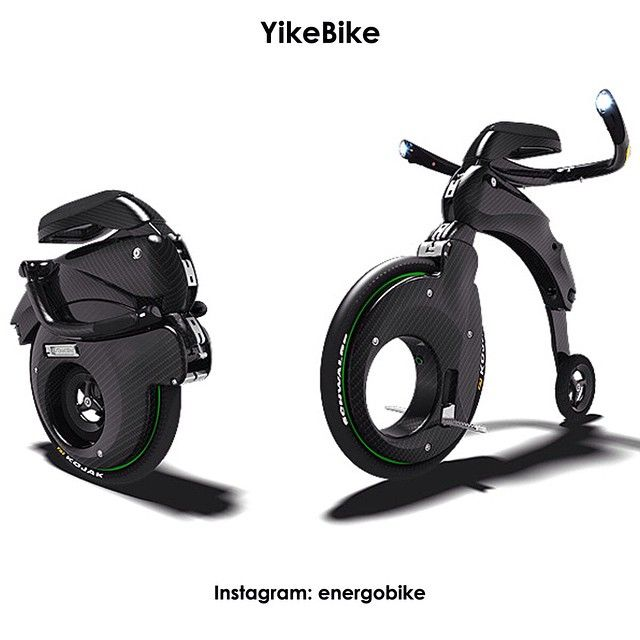 YikeBike Fusion Вес 14 кг. Запас хода — 10 километров.  Максимальная скорость — 23 км/ч. Время полной зарядки батареи — 45 минут.  http://www.yikebike.com/