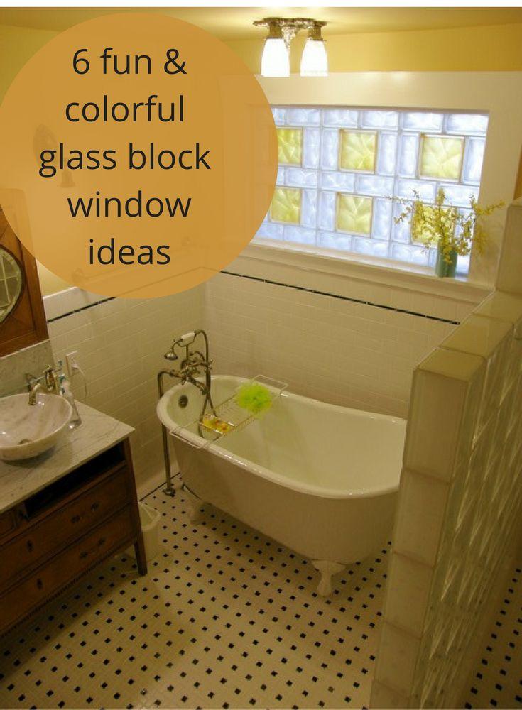132 best glass block windows images on pinterest for Glass block window sizes