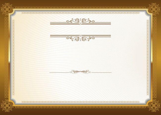 Certificado Europeu Ouro Quadro Fundo Certificate Design Template Certificate Design Photo Album Design