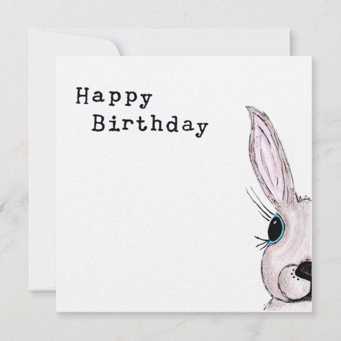 Individually Hand Drawn Rabbit Birthday Card Cute Card Etsy Birthday Card Drawing Birthday Card Puns Birthday Cards