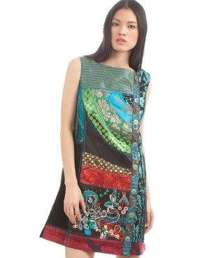 Desigual...we love this designer! I gave my daughter one of this designers incredible skirts for Christmas. Very hip designs.