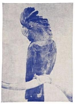 Cocky Blue Tea Towel | Bonnie and Neil – Salt Living or online at www.saltliving.com.au #saltliving #bonnieandneil #teatowel #screenprinting #linen