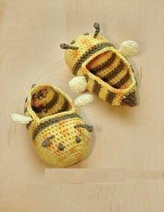 sapatinho croche de bebe bichinhos abelha todos os tamanhos
