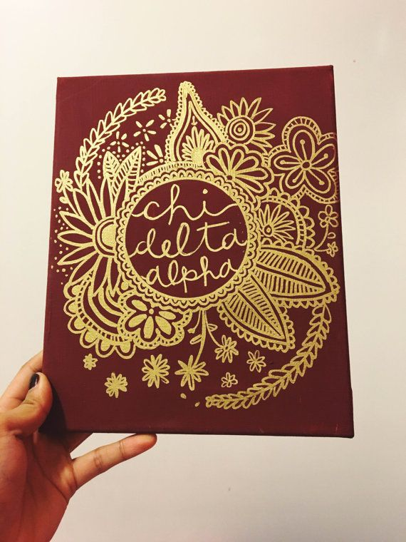 Painted Boho Design Canvas: Sorority by ACMadeSimply on Etsy