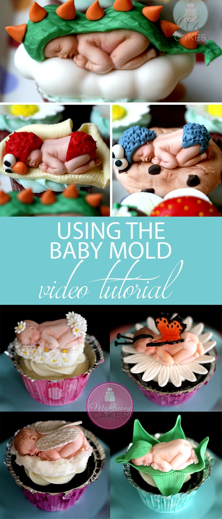 Using the baby mold tutorial!