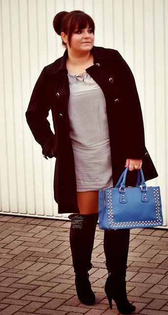 5 Feminine Ways To Wear Over The Knee Boots As A Plus Size Girl Curvyoutfits Com