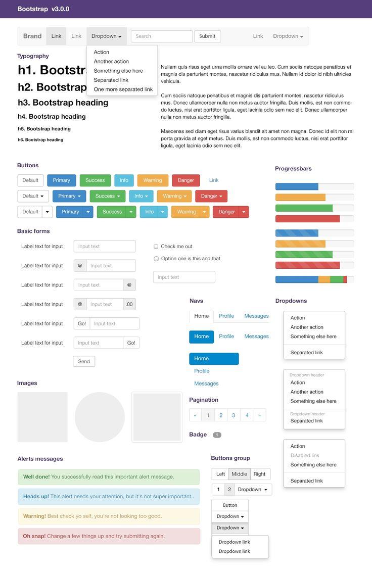 Free Bootstrap V3 UI Kit