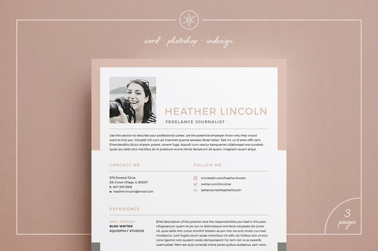 Resume/CV | Heather - Resumes - contains a professional two page design with Free matching cover letter and unique two-tone background design. Everything is editable including fonts and colors so be sure to personalize to suit your needs. Move and duplicate elements and make the design your own!