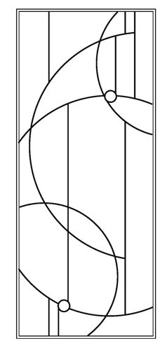 Just thought this was a nice geometric design.  Could use any colors or patterns of glass you like.  stained glass patterns for free: Free stained glass patterns