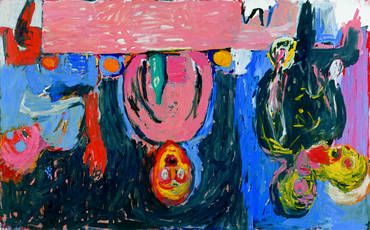 "Georg Baselitz, ""Supper in Dresden"", 1983"