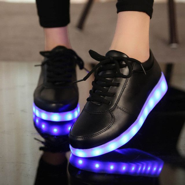 KRIATIV USB Charger Lighted shoes for Boy&Girl glowing sneakers Kids Light Up shoes led slippers Casual Luminous Sneakers
