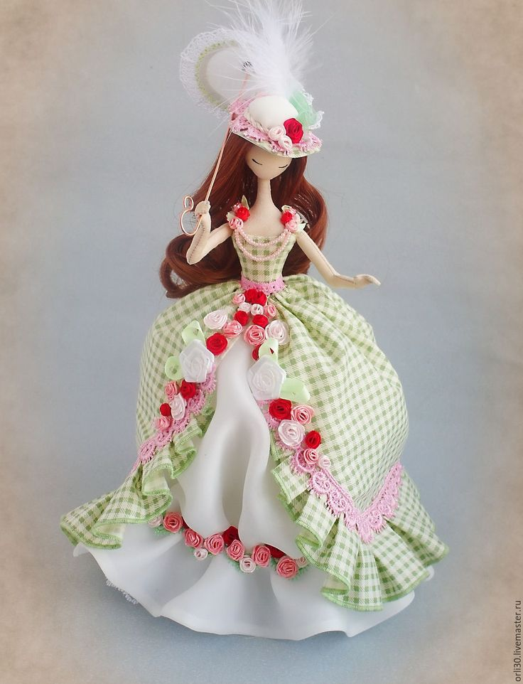 Купить Текстильная кукла.Тряпиенс.Софья - ярко-зелёный, тряпиенс, тряпиенса, тряпиенсы, текстильная кукла