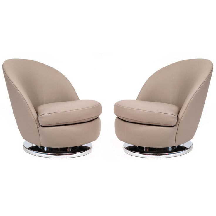 Milo Baughman for Thayer Coggin Leather Swivel Chairs | From a unique collection of antique and modern swivel chairs at https://www.1stdibs.com/furniture/seating/swivel-chairs/