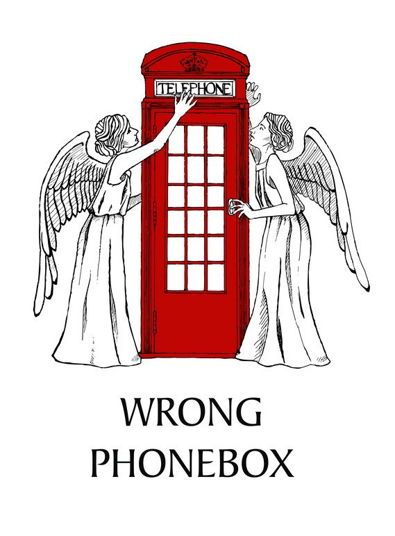 Constable Reggie! The angels have the telephone booth!: Wrong Phones, Silly Angel, Angel And The Phones Boxes, Nerdy Stuff, Wrong Phonebox, Police Boxes, Doctors Who, Weeping Angel, The Angel Have The Blue Boxes