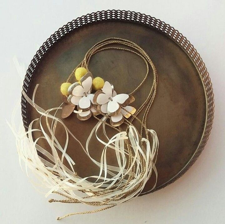 #handmade#baby#girls#crowns#wedding#yellow#felt#gold#leather#white#fabric#butterfly#white#ribbons#by#L_L♡ #calliopil_l