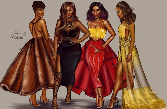 The AfroFusion Spot, women, my black is beautiful, international women's day, peniel enchill, art, illustration, bold, strong, independent