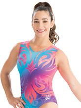 Aly Raisman Artistic Bloom Leotard from GK Gymnastics