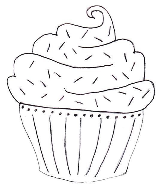 cupcake embroidery pattern by Salvaged Mutiny, via Flickr