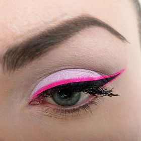 pastel with neon....forget the shadow, although it's cool...dig those  EYEBROWS!!  PERFECT shape!!