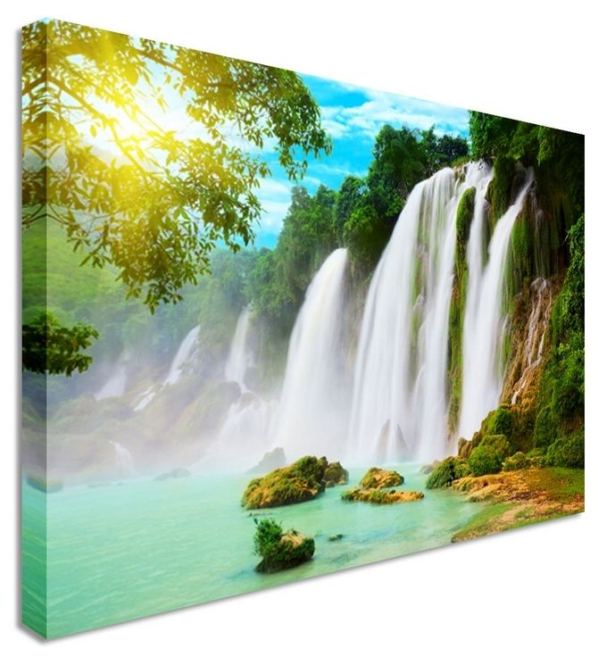 Waterfall vietnamese by landscape art canvas prints canvas art cheap prints by www canvastown
