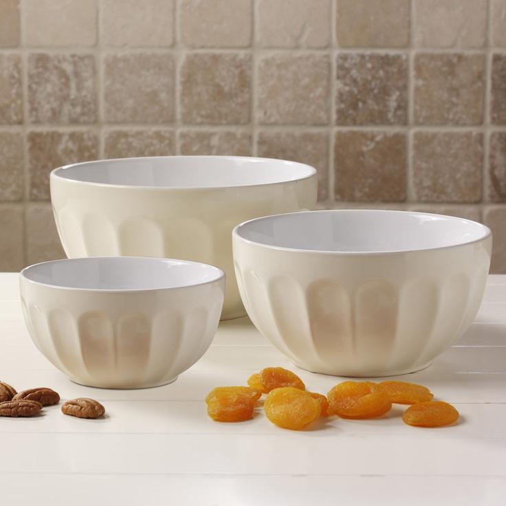 ProCook Ceramic Mixing Bowl Set, Mixing Bowls, Baking ...