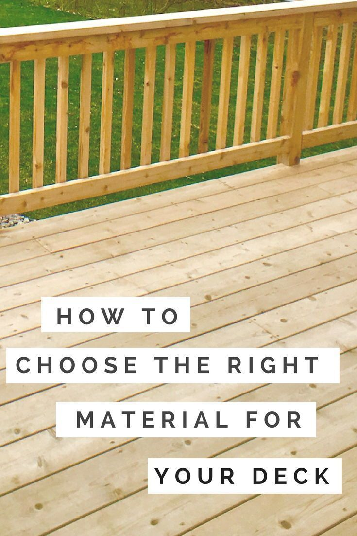 Considering Building A New Deck We Break Down The Pros And Cons Of Pressure Treated Wood Cedar And Composite Decking Materials Decks Cedar Building A Deck