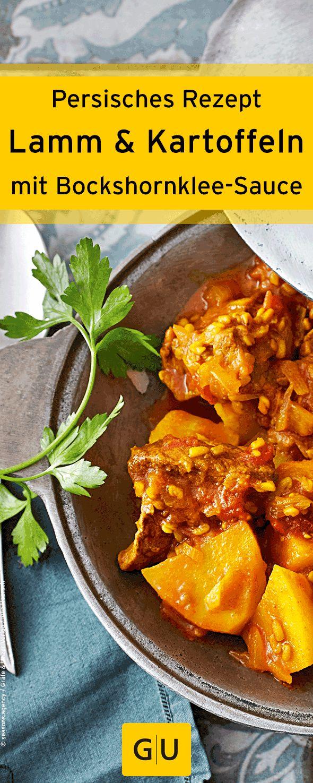 Persisches Rezept für Lamm mit Kartoffel-Bockshornklee-Sauce.