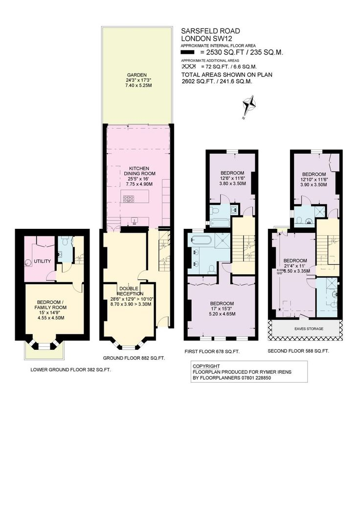 master ensuite and back bedroom ensuite and loft room