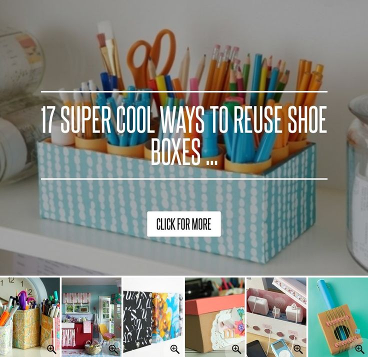 17. Sticker Organizer - 17 Super Cool Ways to Reuse Shoe Boxes ... → Lifestyle