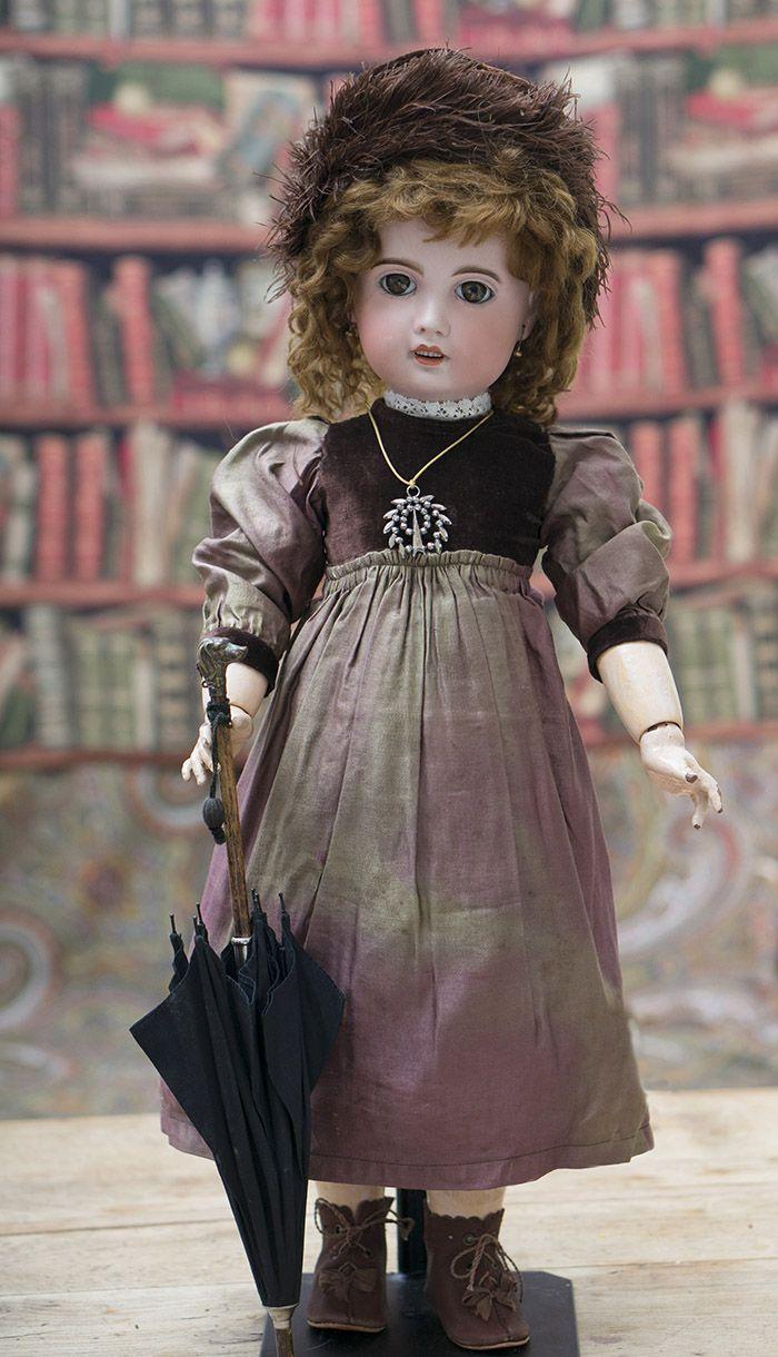 "14 1/2"" (37 cm) Antique French Bebe Parasol Antique dolls at Respectfulbear.com"