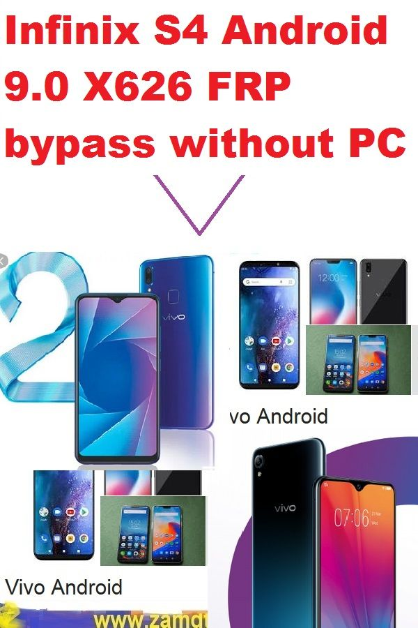 Infinix S4 Android 9 0 X626 Frp Google Bypass Without Pc This 100