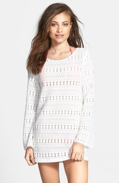 MINKPINK 'Monte Carlo' Bell Sleeve Cover-Up Tunic available at #Nordstrom
