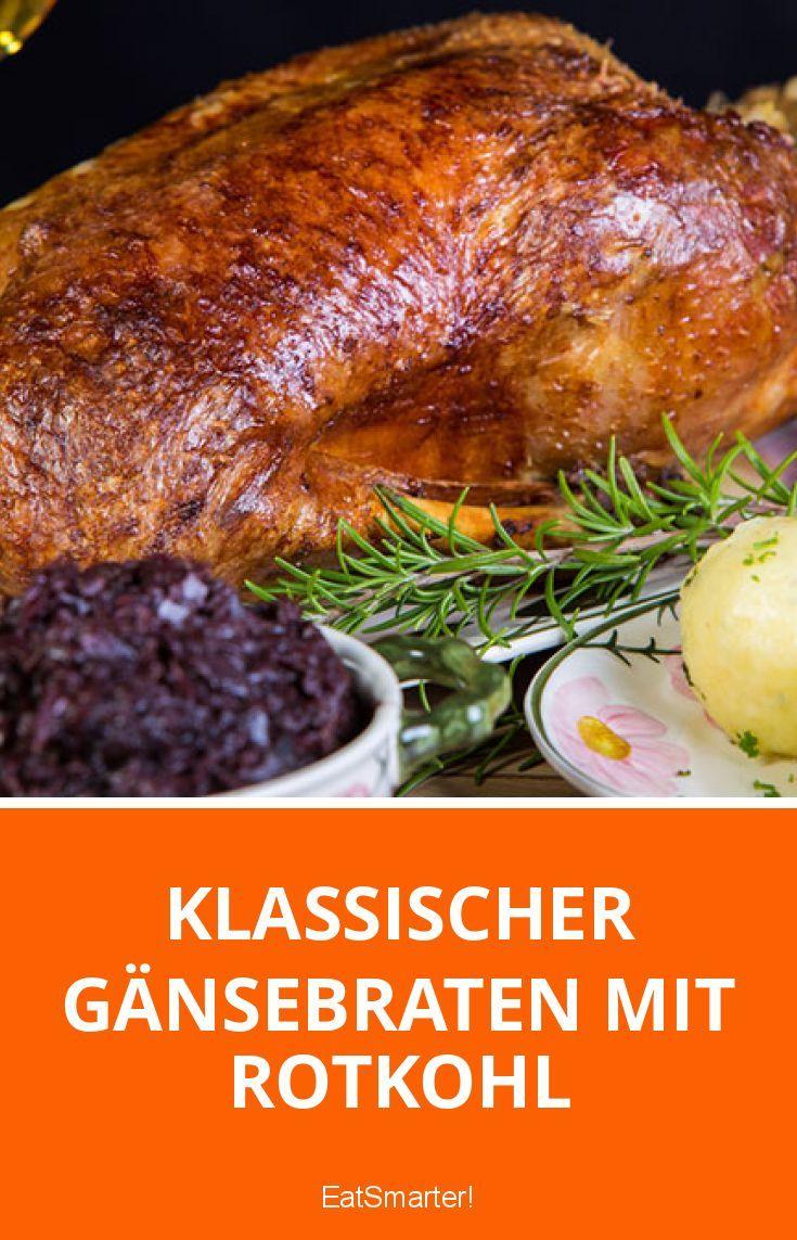 Klassischer Gänsebraten mit Rotkohl   eatsmarter.de